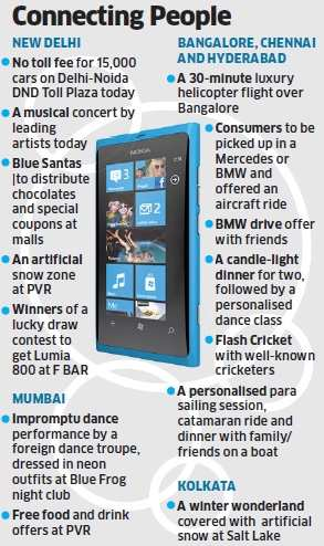 Nokia's Lumia hits stores in India today; leaving no stone unturned to make it a success