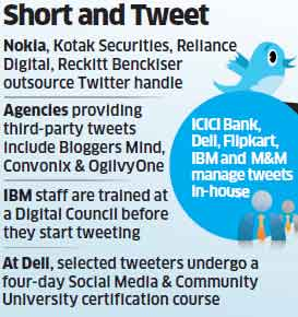 Companies like Reliance Digital, Reckitt Benckiser and others outsource Twitter handle to capture consumers