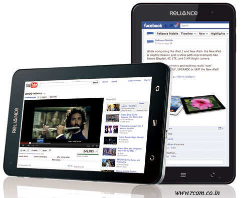 Reliance Communications unveils India's first CDMA Tablet at Rs 12,999