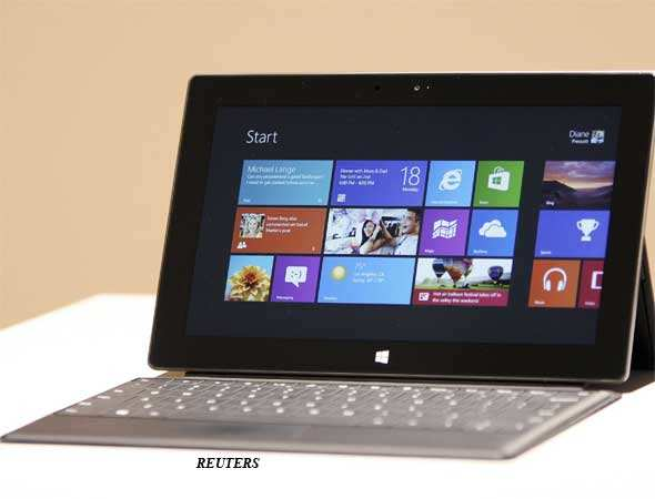 The Surface tablet will come in two versions, both with screens slightly larger than the iPad's