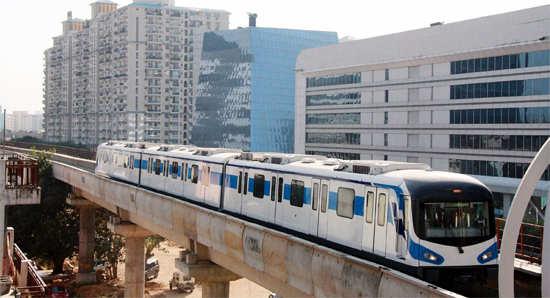 Rapid Metro train on trial run