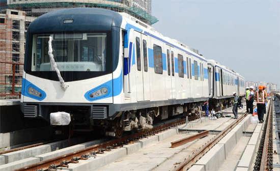 Coaches of Rapid Metro in Gurgaon