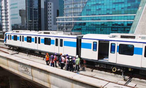 All three coaches of Rapid Metro in Gurgaon