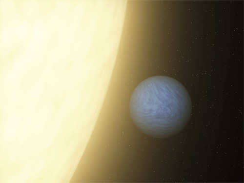 NASA handout artist's rendition shows the planet 55 Cancri e orbiting its sun in the constellation of Cancer (Reuters)