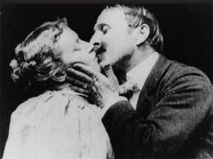 The original onscreen kiss
