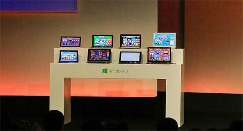 Microsoft introduces a new tablet computer and Windows 8 software to the media in Shanghai on October 23, 2012. (AFP)