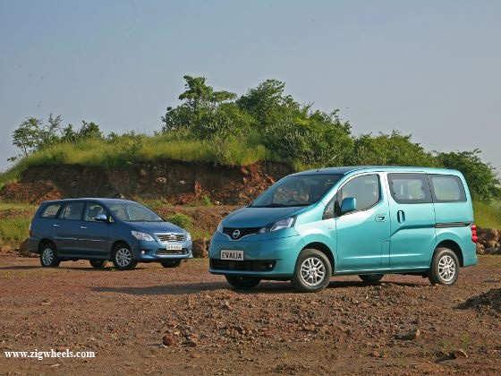 Nissan Evalia vs Toyota Innova exterior front