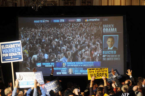 US election results 2012: Barack Obama re-elected as President