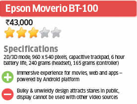 Epson Moverio BT-100: ET Review