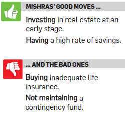 The Mishras need to realign their portfolio, with focus on equity, to make up for the lost time.