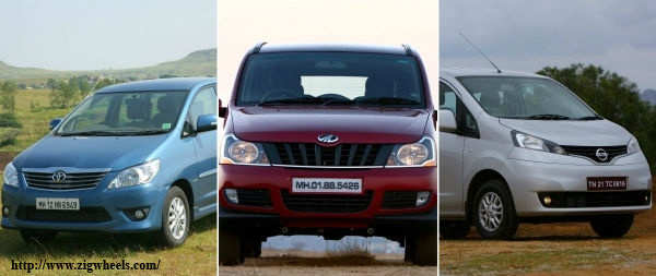 Who's the king of MPVs: Mahindra Xylo or Nissan Evalia or Toyota Innova? Find out