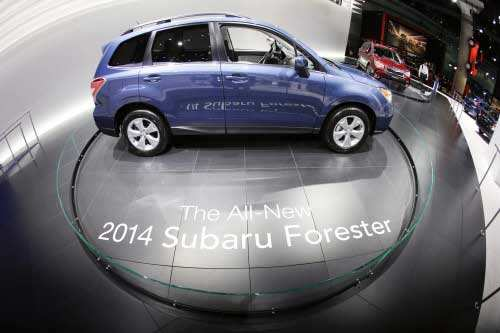 Subaru Forester is shown at the LA Auto Show in Los Angeles, Wednesday, Nov. 28, 2012. at the LA Auto Show in Los Angeles, Thursday, Nov. 29, 2012. (AP photo)