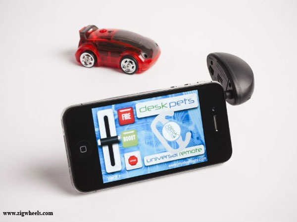 CarBot: World's first micro robotic race car controlled by smartphone