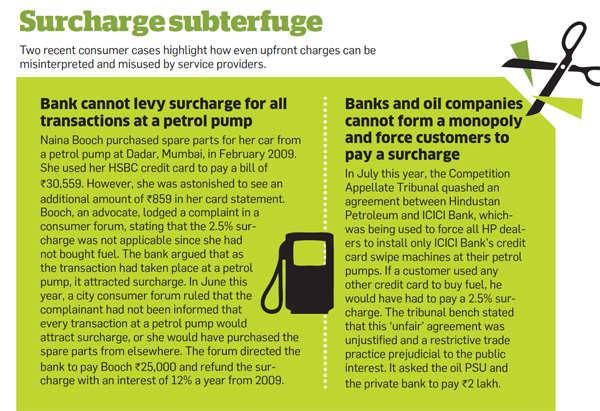 Surcharge subterfuge