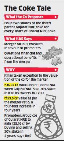 Investment advisory firm asks investors to oppose Bharat NRE merger with Gujarat NRE Coke