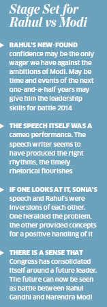 Rahul Gandhi's speech a cameo performance