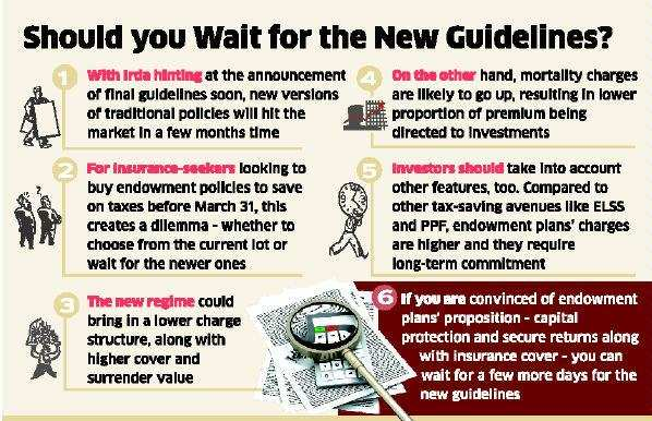 Last year, the draft guidelines on traditional plans had made a case for lower charges and higher life cover as well as the surrender value, among other proposals.