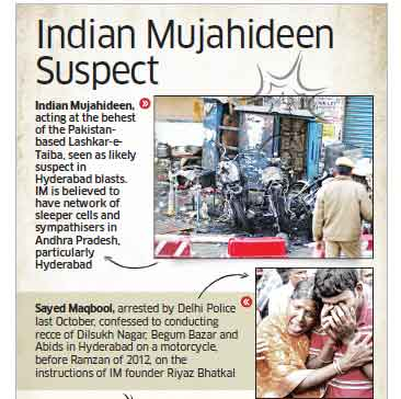 Hyderabad Blast: Initial probe points fingers at Indian Mujahideen