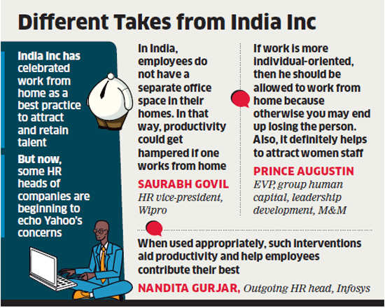 What does Yahoo's work from home ban mean for Indian cos
