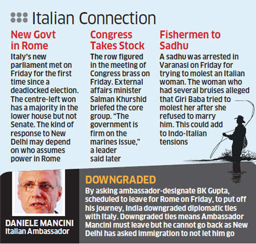 India-Italy spat: Immigration told not to let Italian envoy Daniele Mancini leave