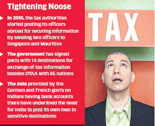 The income-tax department is set to post its officers in 14 new overseas destinations to gather information on suspicious financial transactions abroad.