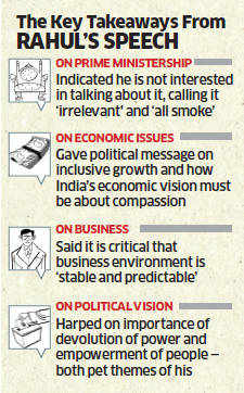 Rahul Gandhi lays out his vision to India Inc at CII event; emphasises the need to devolve power