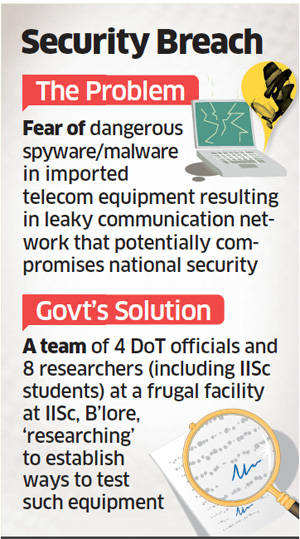 Malicious software in telecom equipment: IISc Bangalore team fighting spyware