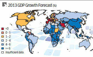 IMF trims global growth forecast, sees bumpy recovery for US, Europe, mixed fortunes for Asia