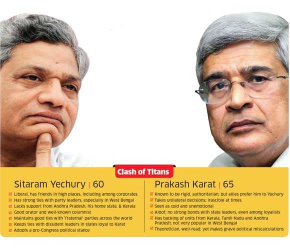 After a lull, tussle between CPM's Prakash Karat and Sitaram Yechury resurfaces