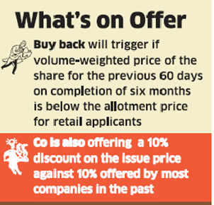 Just dial offers safety net to retail investors, co to buy back shares at IPO price if stock falls