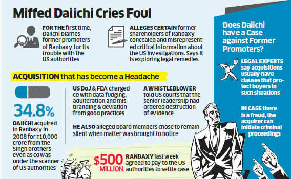 Japanese chief of Ranbaxy Daiichi Sankyo may drag Malvinder Singh and his brother to court