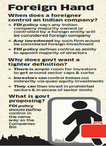 Government to soon redefine 'control' in its FDI policy