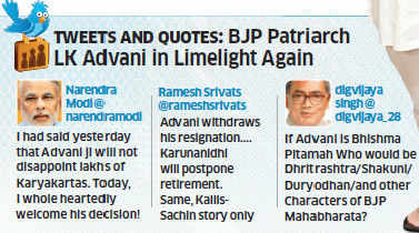 Senior BJP leader LK Advani recalled his resignation from all party posts after, his party maintains, he spoke to RSS chief Mohan Bhagwat.