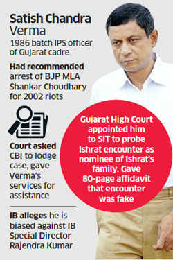 Ishrat Jehan encounter probe: IPS Satish Chandra Verma's long list of friends, foes