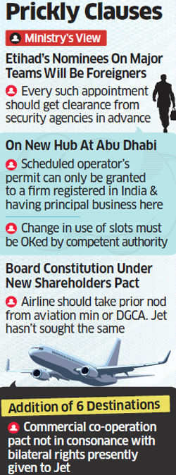 Overload of foreign nationals on boards may ground Jet-Etihad deal as aviation ministry raises objections