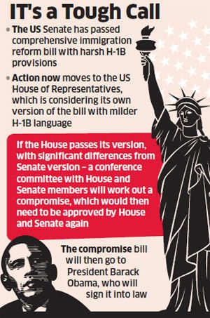 Worried Indian IT companies hope for softer final version of immigration bill