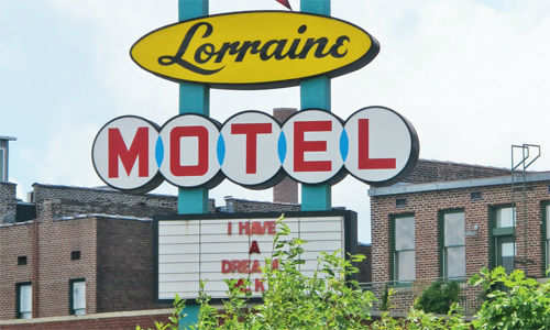 The motel where Martin Luther King was shot dead is now part of the Civil Rights Museum
