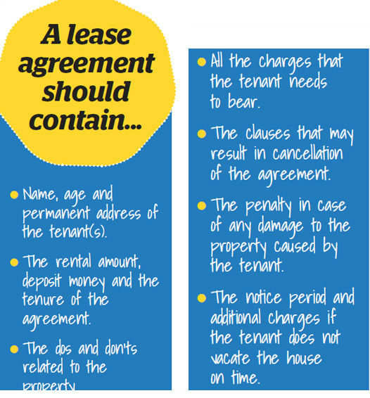 A lease agreement should contain