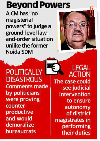 Suspension of Durga Shakti Nagpal illegal, utterly stupid & whimsical: Naresh Chandra