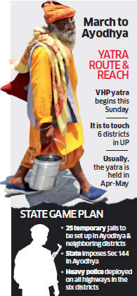 VHP yatra related to faith of Hindus: Rajnath Singh