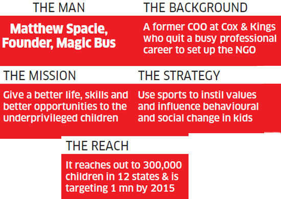 Sunday ET: Matthew Spacie's Magic Bus uses sports-based activities to transform underprivileged children's lives