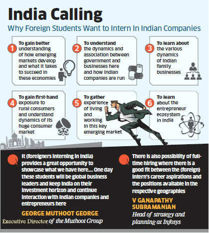 Why foreign studens want to intern in Indian companies