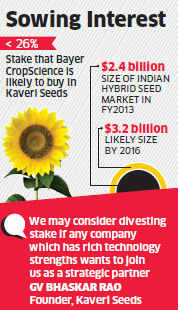 Bayer CropScience may buy under 26% stake in Hyderabad-based Kaveri Seeds