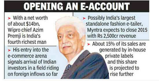 Azim Premji may buy Myntra stake for e-commerce entry