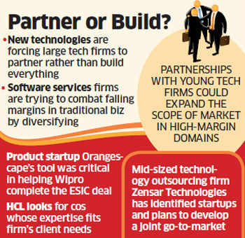 IT companies HCL, Wipro lean on startups to win big bids; save time and resources