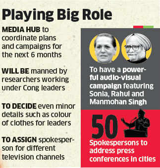 Congress in serious PR activities, media hub to help leaders plan their day, clothes