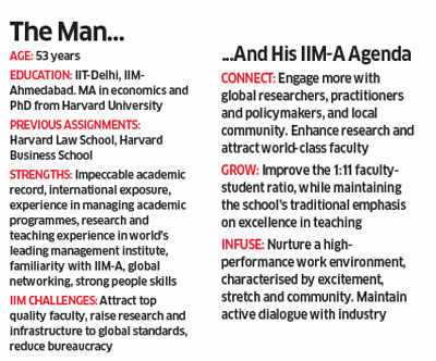 After taking charge, that global orientation lies at the core of the three ways in which Ashish Nanda is trying to take IIM-Ahmedabad to the next level.