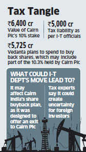 Tax sleuths ask UK's Cairn to hold on to stake in Indian arm