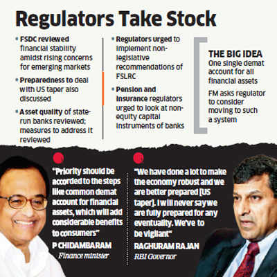 P Chidambaram bats for single demat account for all financial assets