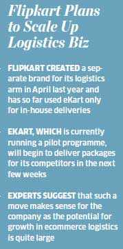 Flipkart to throw open its logistics arm 'eKart' to deliver packages of competitors